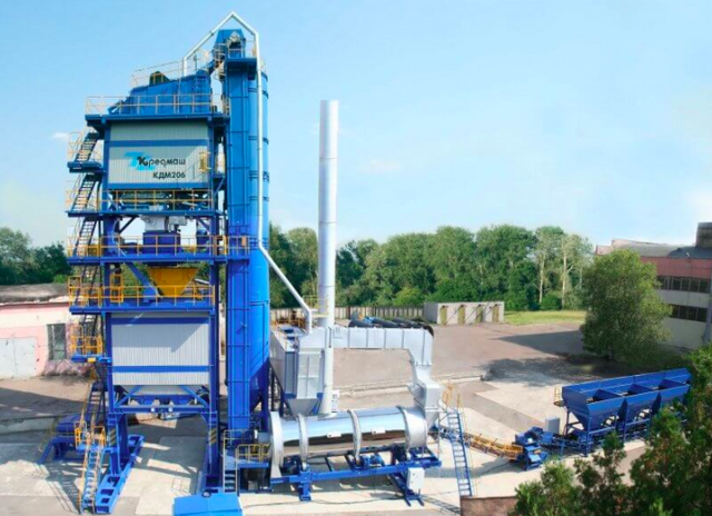 Этапы строительства асфальтобетонного завода в Украине